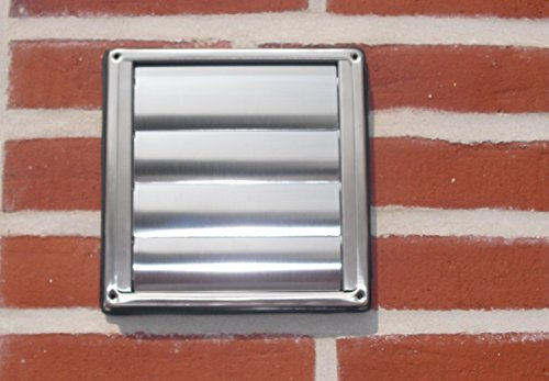 VentilationNord Wetterschutzgitter NW150 Mauerkasten Aussengitter mit Lamellen Edelstahl Dunstabzug WSQLE150