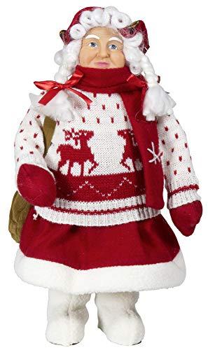 Christmas Paradise Weihnachtsmann Weihnachtsfrau Größe ca.60cm Mr.Santa Mrs.Santa (Mrs.Santa)