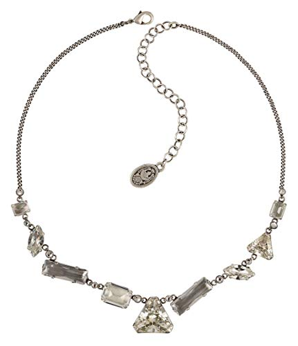 Konplott Halskette/Collier Mix The Rocks Silver Crystal White