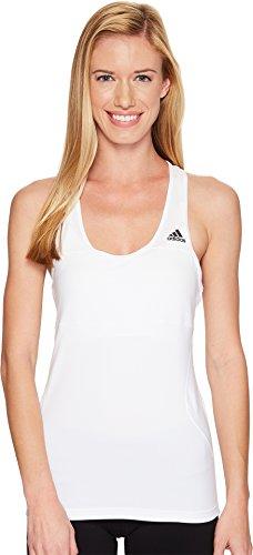 adidas Womens running Cross Tank, White, X-Small