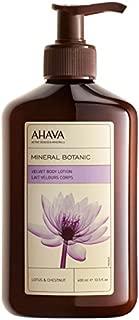 AHAVA(アハバ) ミネラル ボタニック ベルベット ボディローション - Lotus&Chestnut(蓮の花と栗) 400ml/13.5oz [並行輸入品]