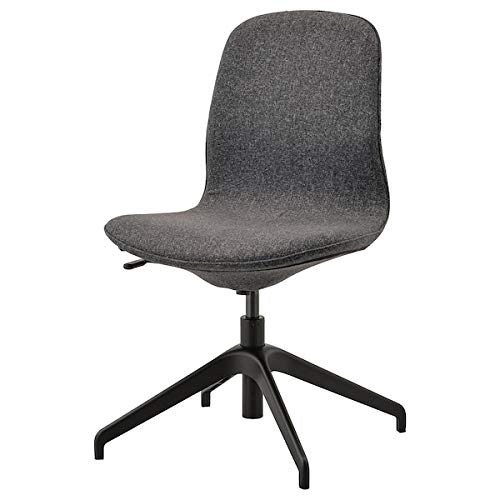 DiscountSeller LÅNGFJÄLL Silla de conferencia, Gunnared gris oscuro, 67x67x92 cm durable y fácil de cuidar.Sillas de oficina. Sillas de escritorio. Muebles. Respetuoso con el medio ambiente.