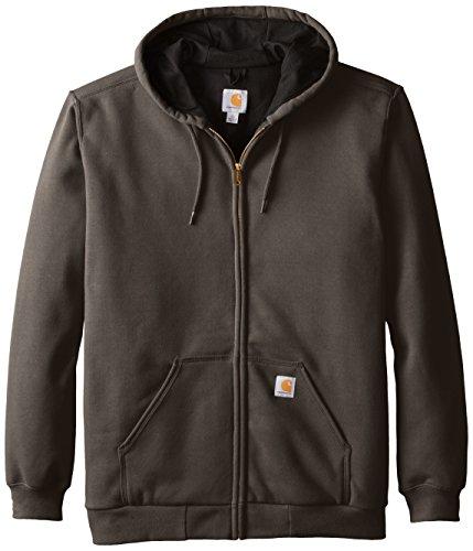Carhartt Rutland Thermal-Lined Hooded Zip-Front Sweatshirt, Dark Brown, Large-Tall