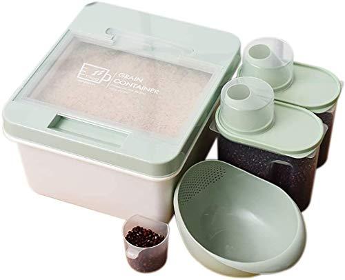 Graan opbergdoos Huis van de Keuken Rice Barrel/Meel Bucket, Grootschalige voedsel Storage Box Sealed Vocht, Ongediertebestrijding rijst en bloem Storage Box, is geschikt for 10KG Voedselbewaardoos