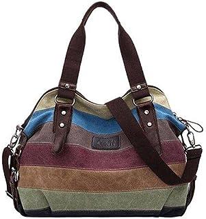 كوفيت حقيبة قماش للنساء-متعدد الالوان - حقائب بحزام للاغلاق