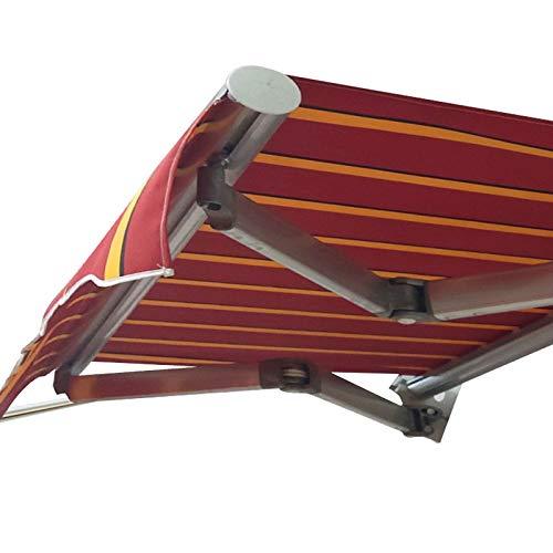 Toldo eléctrico 1.5mX1.5m Toldo para Patio Bricolaje Completo con Accesorios y Mango enrollador Impermeable,Resistente a los Rayos UV,al Sol y al Viento