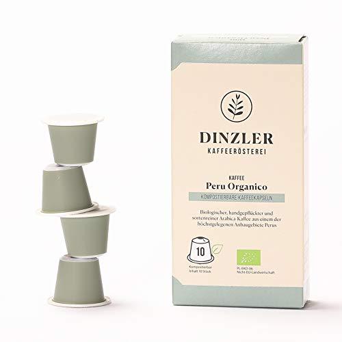 Dinzler Kaffeerösterei Kaffeekapseln Peru Organico (10 Stück)