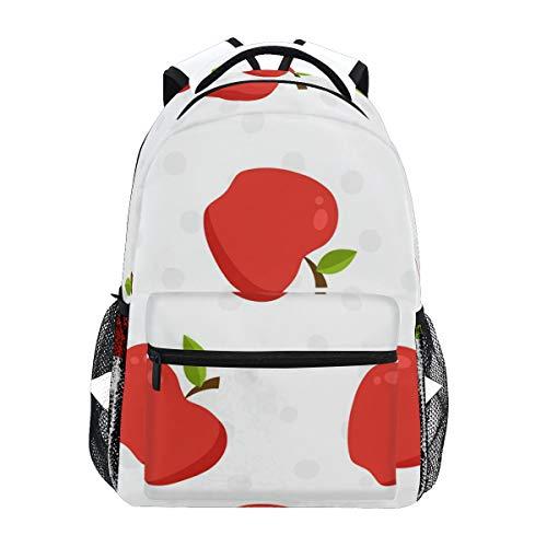 りんご 赤い きれい リュック デイパック レディース 通学 学生 旅行 大きい 大容量 アウトドア 男女兼用 リュックサック 軽量 防水 男女兼用