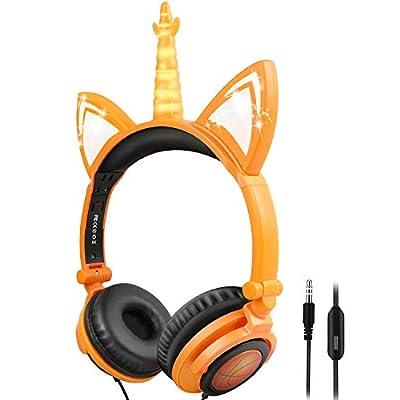 Unicorn Kids Headphones of On-Ear 3.5mm Aux Jac...