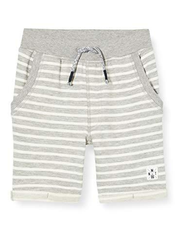 NAME IT Nmmfariko Sweat Long Shorts UNB Pantalones Cortos, Grey Melange, 92 para Niños