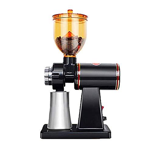 電動コーヒーグラインダー コーヒーグラインダー 8段階変速調整 小型 家庭用 電動 手作り家庭用 機械ステンレス鋼の刃 コーヒー店 ケーキ店ドーナツ店などに適用 (黒1)