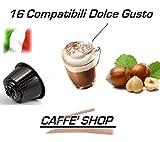 Caffè Shop Cápsulas compatibles con Nescafè Dolce Gusto®, 32 Cápsulas (16 Cápsulas Mezcla Cappuccino Avellana + 16 Cápsulas Mezcla Maxi Ginseng)