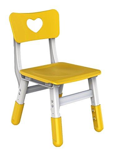 Bieco 04000036 - Kinderstuhl gelb, höhenverstellbar, ca. 35 x 30 x 50 cm