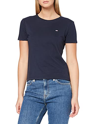 Tommy Jeans Tjw Soft Jersey tee Camiseta, Azul (Twilight Navy), M para Mujer