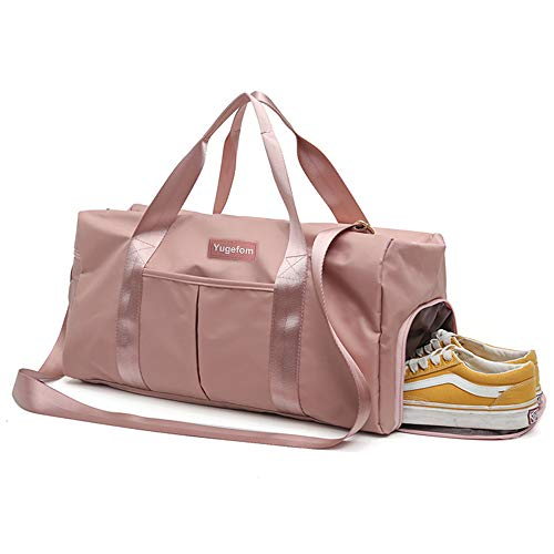 Yugefom Dry Wet Separated Gym Bag, Sport Gym Duffle Holdall Bag Training Handbag Yoga Bag Travel Overnight Weekend Shoulder Tote Bag with Shoes Compartment for Man and Women from Yugefom