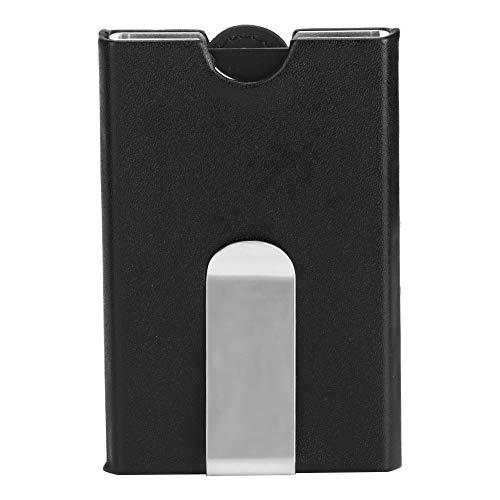 Oumefar Aluminiumlegierung + mattierter PU-Kartenhalter Kartenorganisator 3,9 x 2,6 im Kartenetui Kartenkarton für Kleingeld