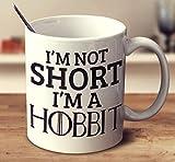 Non Sono Corto, Sono Una Tazza da caffè Bianca da 15 Once di Hobbit