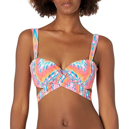 Coco Reef Women's Five Way Bikini Top Swimsuit with Molded Cups, Ibiza Multi, 36C/38C
