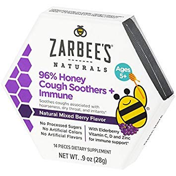 Zarbee's Naturals 96% Honey Cough Soothers + Immune Now $3.80 (Was $8.99)