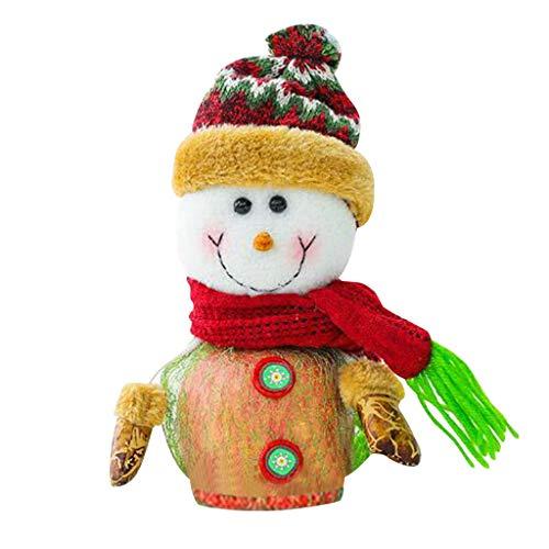 jieGorge Christmas Apple Box Christmas Decorations Santa Claus Gift Box Snowman Gift Box, Home Decor for Christmas Day (B)