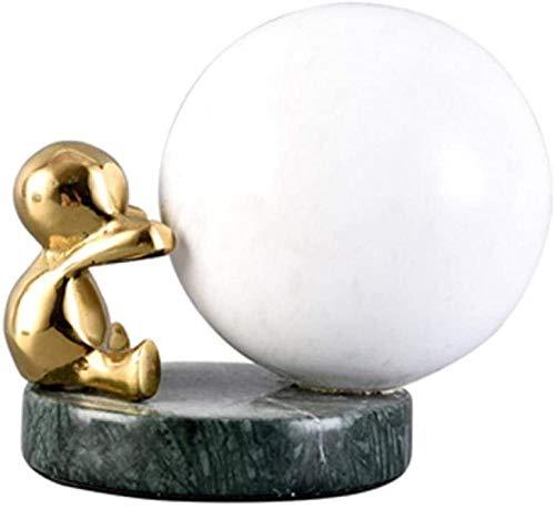 LPQA Estatuas Decoración del Hogar Esculturas Bola De Mármol Decoración De Personajes Habitación De Niños Dormitorio Decoraciones De Estantería-A