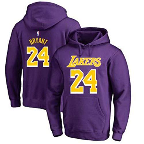 Los Angeles Lakers #24 - Sudadera con capucha para hombre, diseño de kobe Bryant, color morado