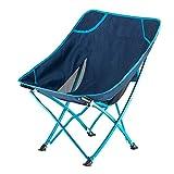 CYQ Atmungsaktive Angelcampingstühle Klappbarer Mondstuhl im Freien Tragbarer Strandliege für...
