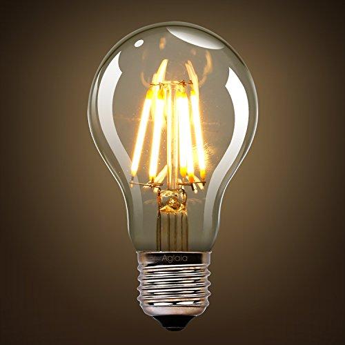 Ampoule LED 6W E27, Lot de 2, 6W Consommés Equivalence 60W, 2700K Blanc Chaud, 600 Lumens et Angle de Faisceau 360° par Aglaia