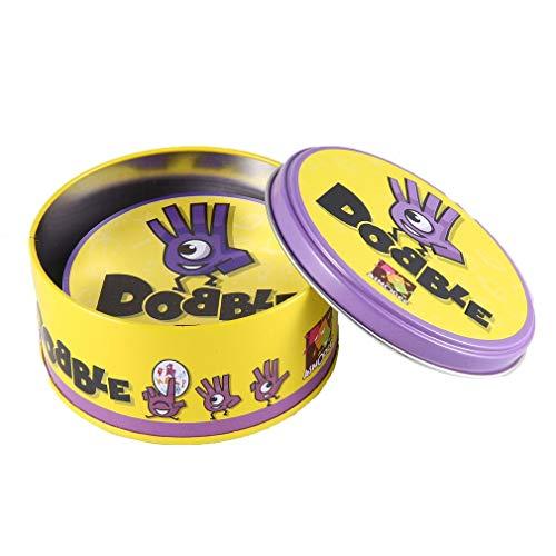 Homgrace Juego de Mesa DOBBLE Spot Sport & Alphabet para niños diversión Familiar Doble Encuentra la versión en inglés