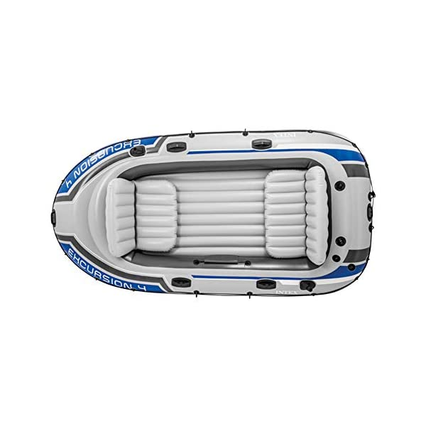 Intex Excursion Inflatable Boat Set with Aluminium Oars and Pump, 4 Person