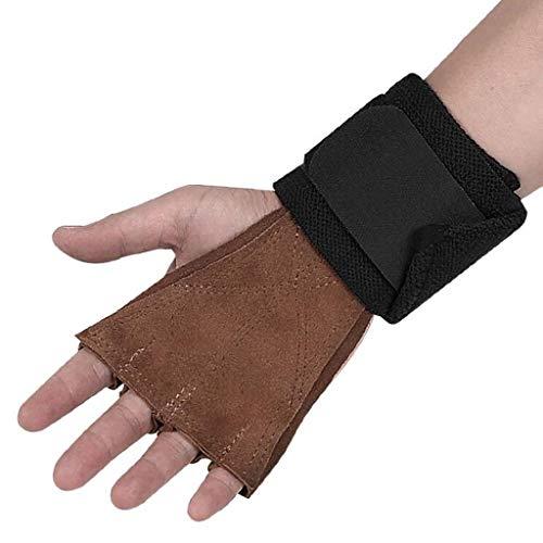 Set van Vinger Sport Handschoenen Polsbeschermer Power Riem Grip Fitness Training Mannen MUMUJIN