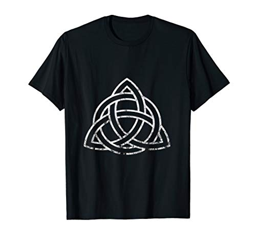 Triquetra Irish Celtic Trinity Knot Symbol Wiccan Spirtual T-Shirt