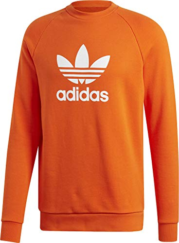 adidas Herren Trefoil Crew Sweatshirt, orange, L