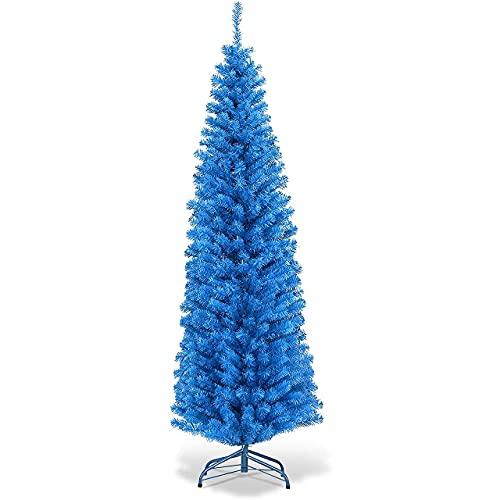 Blue Pencil Christmas Tree,árbol deNavidad de PVC premium,árbol de pino, decoraciónnavideñapara interiores...