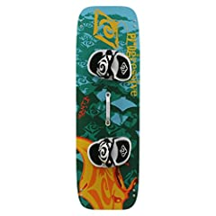 Ultimate light wind board for early planing in the lightest of conditions Paulownia wood core, ABS side rails, stainless steel inserts Fins, handle, and foot pads included