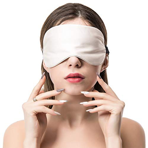 COLD POSH 100% Mulberry Silk Sleep Mask Eye Mask for Sleeping Adjustable Strap Skin-Friendly Super Soft Blindfold for Travel,Shift Work,Meditation,Women/Men/Kids,Gray