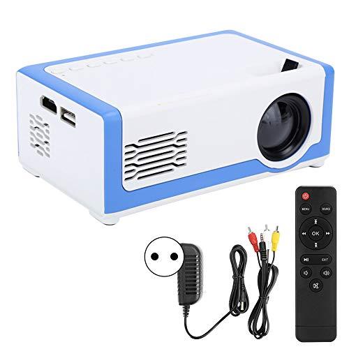 Kafuty-1 Proyector de Video de Alta definición 1080P Pequeño M1 Mini proyector LED para el hogar Reproductor Multimedia de Cine en casa de Bolsillo 100-240V(#1)