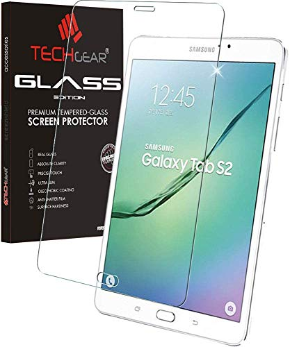 TECHGEAR Vetro Temperato Compatibile con Samsung Galaxy Tab S2 8.0 Pollici LTE/4G (SM-T713, SM-T715) - Autentica Pellicola protecttiva in Vetro Temperato Salvaschermo