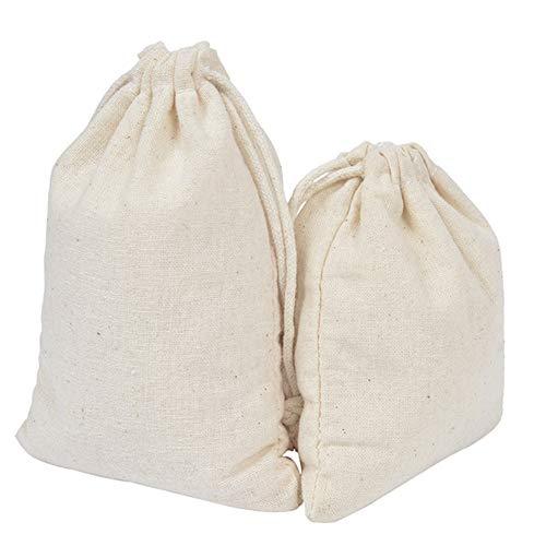 KANKOO Bolsa de Regalo con Cordón Jabones para Regalar Pequeña Bolsa Bolsas de Muselina Decoración de Bolsas de Embalaje Giftmate 10 * 12cm