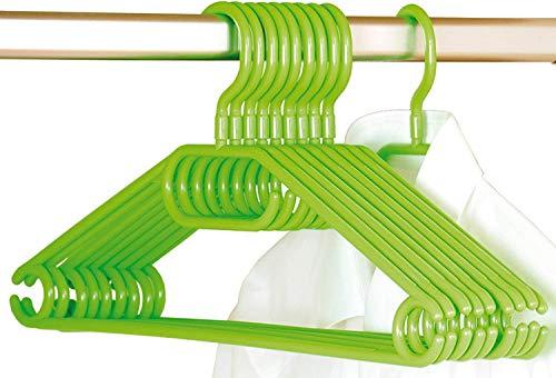 Kesper 16813 Kunststoff-Kleiderbügel, 10-er Pack, Breite: 40 cm, grün