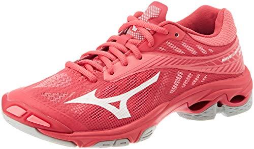 Mizuno Damen Shoe Wave Lightning WOS Sneakers, Pink (Azalea/Wht/Camelliarose 001), 44 EU