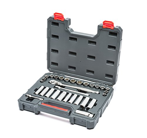 Crescent 30 Pc. 3/8' Drive 6 & 12 Point Standard & Deep SAE/Metric Mechanics Tool Set - CTK30SETN