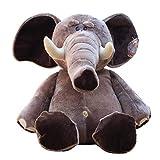 Creacom Niedliche Plüsch Elefanten Puppen, 18cm / 20cm Niedliche Plüsch Elefanten Puppen Schöne Kuscheltier Schlafspielzeug Geburtstag Kinder Grau
