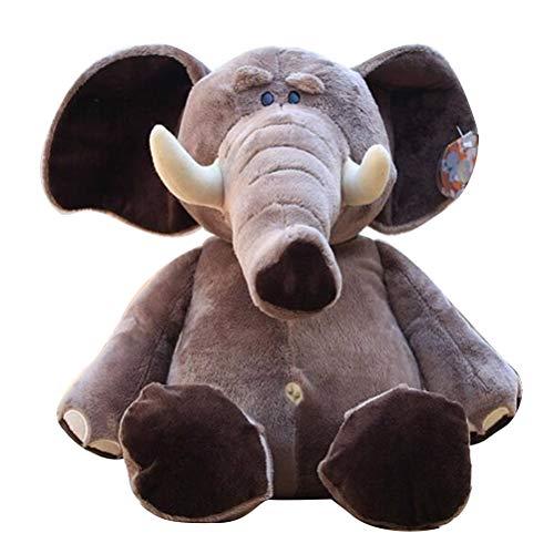 Süße Plüsch Elefanten Puppen, Creamon 18cm / 20cm Süße Plüsch Elefanten Puppen Schöne Kuscheltier Schlafspielzeug Geburtstag Weihnachtsgeschenk für Kinder Hellgrau
