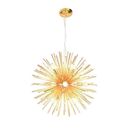 Dellemade Sputnik Golden Kronleuchter 12-Licht Vintage Pendelleuchte für Esszimmer, Wohnzimmer, Küche, Büro, Café, Restaurant