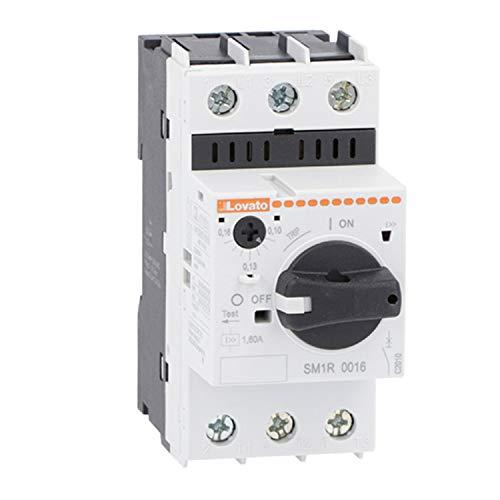 Interruptor guardamotor de mando rotativo, regulación de 0,16 a 0,25 A, 4,5 x 8,5 x 9 centímetros, color blanco (Referencia: SM1R0025)