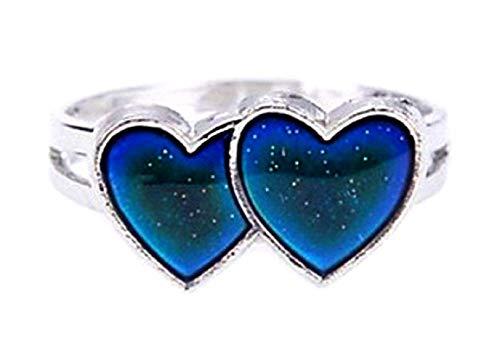 Inception Pro Infinite - Magischer mädchenring - Ring für mädchen - Herren - Magischer mädchenring - Herz - Herzring - Herzchen - Mood Ring - Verstellbar - Farbe ändern - Stimmungsring
