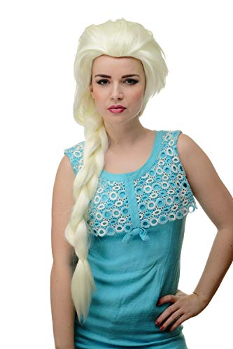 WIG ME UP - Perücke Damenperücke Cosplay langer Zopf toupiert platinblond eisblond blond Prinzessin GFW2072L-613A