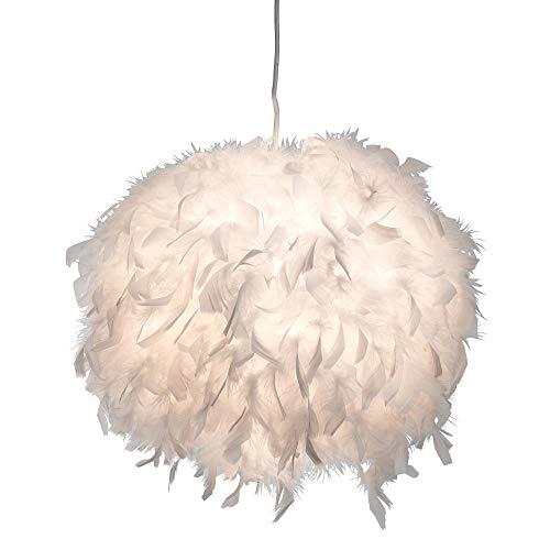 Kugel Pendel Decken Lampe FERNBEDIENUNG Enten Feder Leuchte DIMMBAR im Set inkl. RGB LED Leuchtmittel