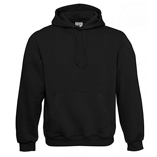 B&C, felpa da uomo con cappuccio, WU620 Black L